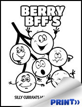 Kids Coloring pages - berries