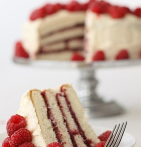Cream Cheese Layer Cake with Raspberry Filling